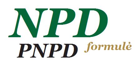 NDP formulė, PNPD dydžiai nuo 2016.01.01